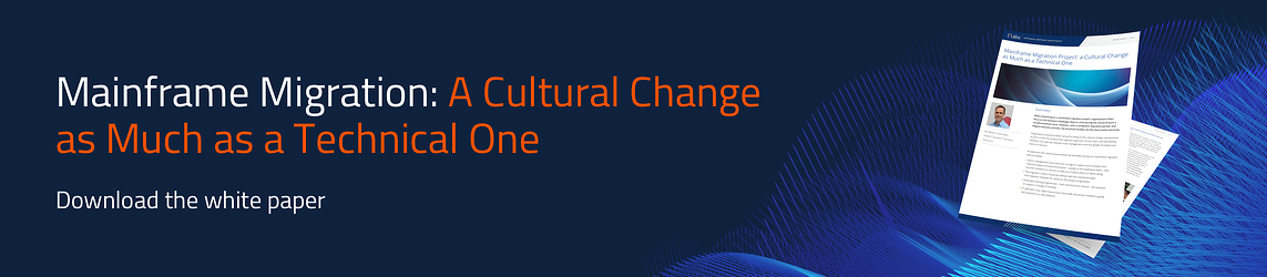 Download the white paper | Mainframe Migration Project: a Cultural Change as Much as a Technical One